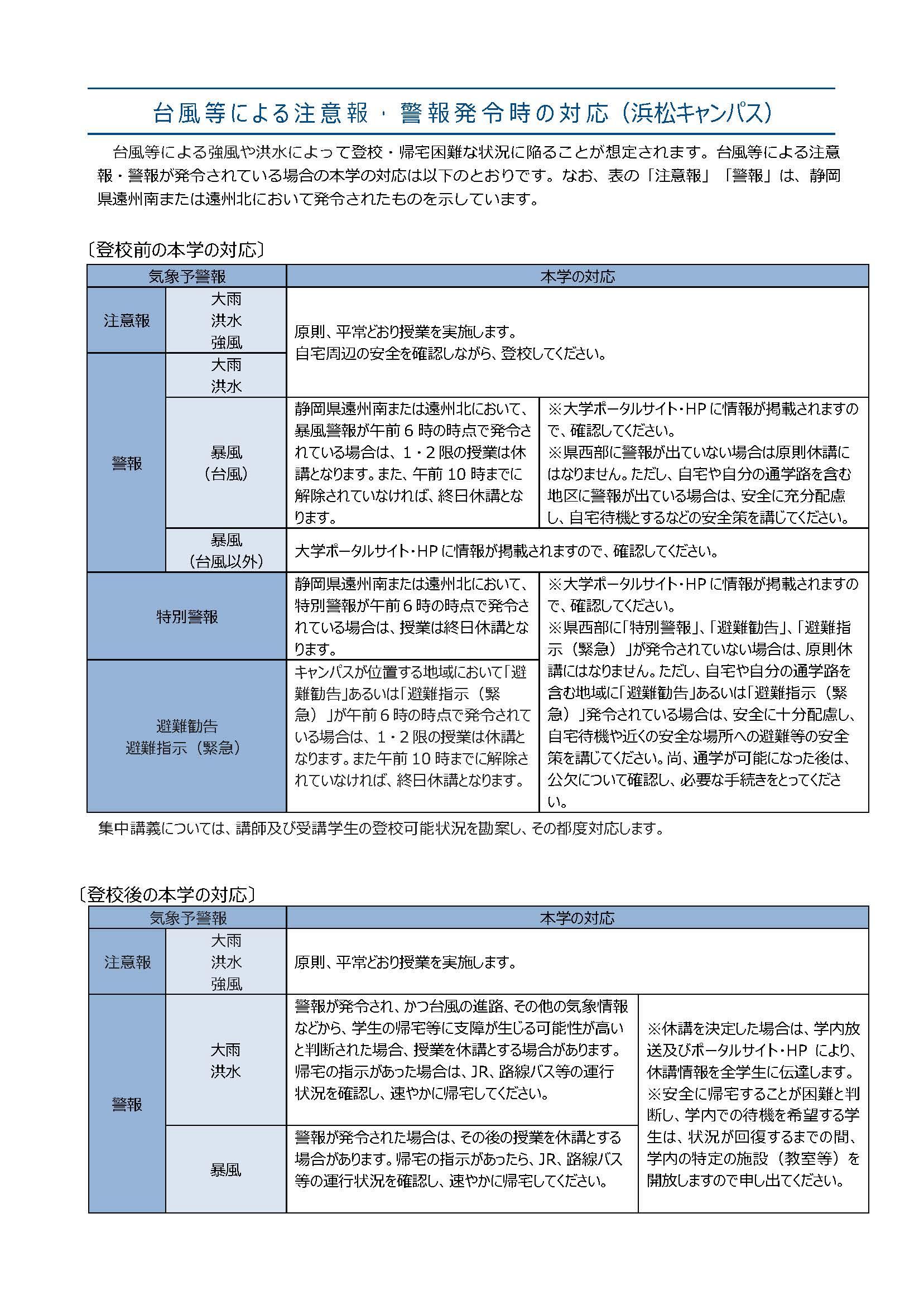 ポータルサイト 常葉大学 浜松キャンパス